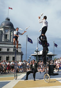 There's entertainment all day long during the Summer Festival. Photo: Yves Tessier, Tessima