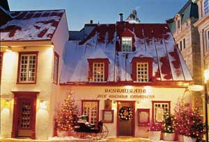 Aux Anciens Canadiens, the oldest house in the city, serves authentic French Canadian fare. Photo: J-F Bergeron, Enviro Foto