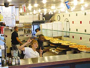 Antonios pioneered pizza by the slice in downtown Amherst. photo by Stephen Hartshorne.