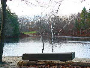 Puffer's Pond in North Amherst is a great place to commune with nature.