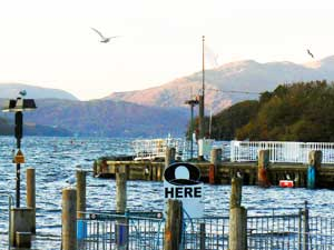 Lake Windemere, England's largest lake, at Bowness.