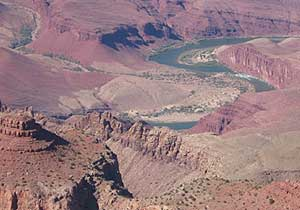 The Colorado River as seen from the helicopter