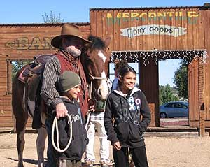 You can get your picture taken with a real outlaw.