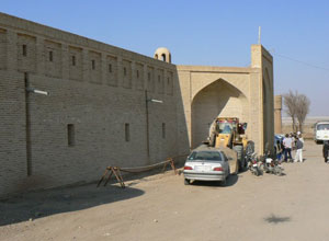 The 400-year-old caravansary, which some day will be turned into a hotel. Now it's a place to picnic and relax.