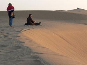 The dunes in the Dasht-E-Kavir, Iran's central desert