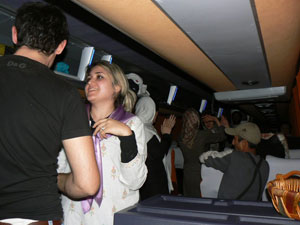 On the way home, we closed the curtains and danced to Iranian rock music on the bus.