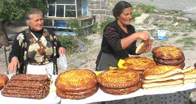 Vendors in Geghard, Armenia - photos by Susan Mckee