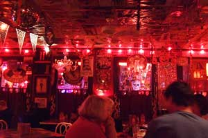 The memorabilia-filled Picolo's – The Red Bar in Santa Rosa Beach, lives up to its lively reputation.