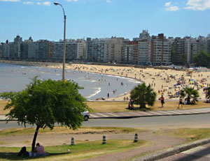 Pocitos Beach on a Sunday