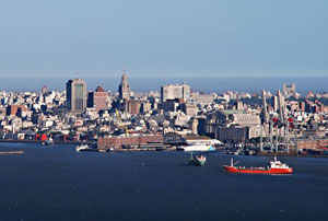 Montevideo's busy harbor
