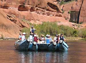 Colorado River Discovery runs flat-water tours – no white water.