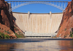 The Glen Canyon dam was inaugurated by Lady Bird Johnson in 1966.