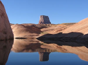 Arizona's red rocks seem even more beautiful reflected in the waters of Lake Powell. Photos by Shady Hartshorne, except as noted