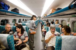 Bullet train in Taiwan. photo by Paul Shoul.