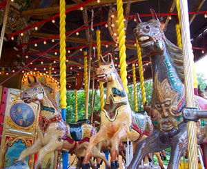 Carousel horses at the Tuileries
