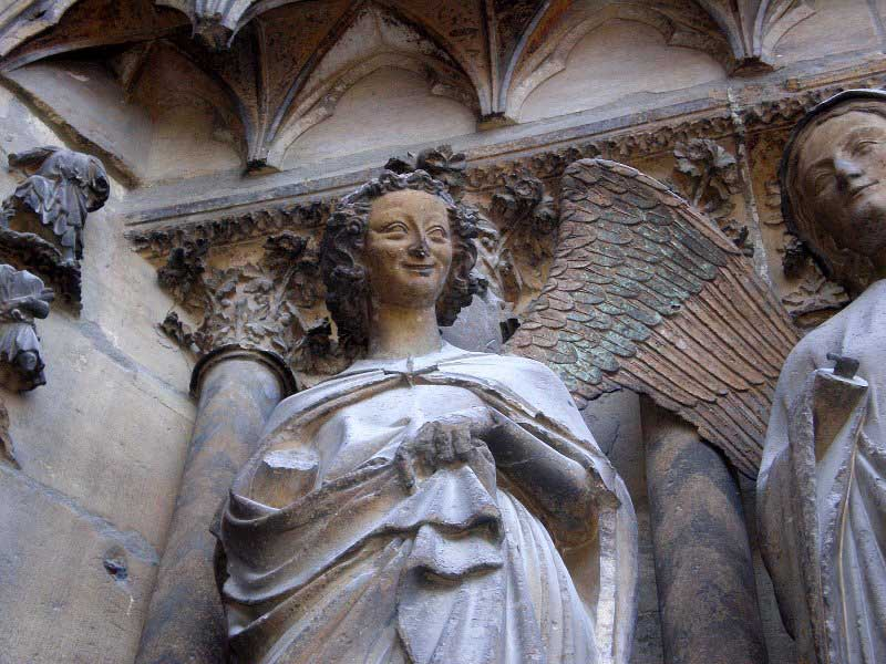 The Smiling Angel at the Notre-Dame de l'Epine basilica in Reims