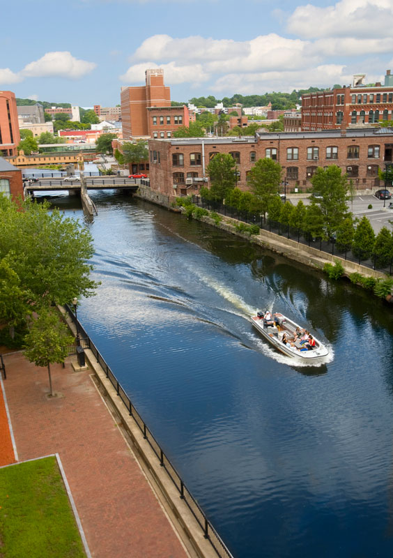The Pawtucket Canal in Lowell, Massachusetts