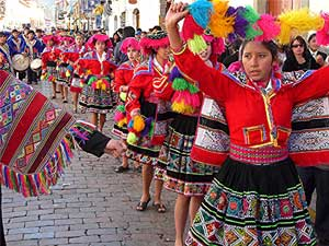 A parade in Cusco