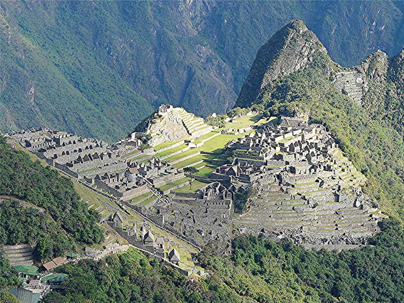 The Incan ruins at Machuc Picchu - photo by David Rich