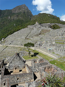 An inner view of Machu Picchu