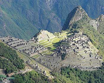 The Incan ruins at Machu Picchu - photo by David Rich