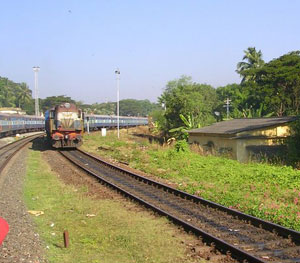 Entering Mangalore Station