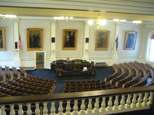 The House Chamber in the New Hampshire State House