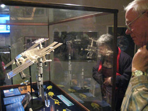 Viewing a model of the International Space Station at the McAuliffe-Shepard Discovery Center in Concord, New Hampshire