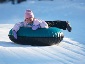 Tubing is popular, too. They have a special slope for it.