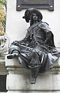 A statue of D'Artagnan in Paris