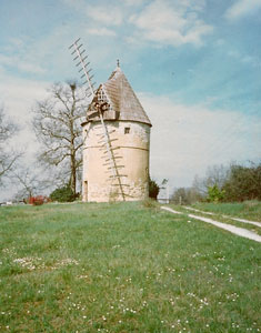 The landscape is dotted with vernacular pigeonniers, windmills and churches.