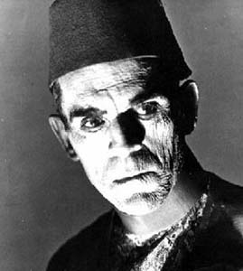 Boris Karloff as the mummy of Imhotep
