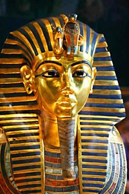 The mask of Tutankhamen - photo by Ed Wetschler.