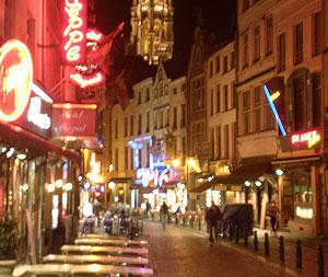 Nighttime in Brussels