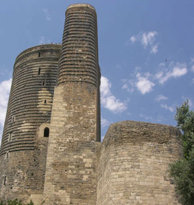 The Maiden Tower in the Old City of Baku