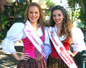 Octoberfest princesas in Santa Catarina.