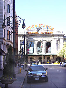Outside Union Station, Denver