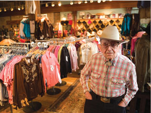 The late Papa Jack Well, founder of Rockmount Ranchwear, who passed away in 2008 at the age of 107