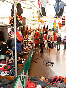 Outdoor market in Val d'Isere Village