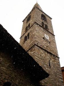 Baroque church in Val d'Isere Village