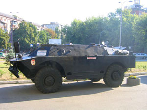 For those interested in the USSR relics, you will see many of them in Kiev: an armoured car for sale.