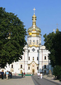 Kiev Pechersk Lavra, a histoic Orthodox Christian Monastery founded in 1015.