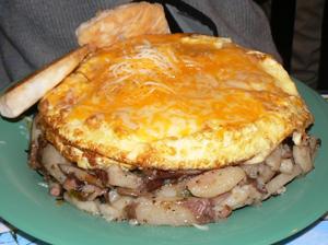 Breakfast at Tacky Jacks in Orange AL. photo by Max Hartshorne.