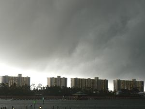 Storm approaches in Orange Beach, AL.