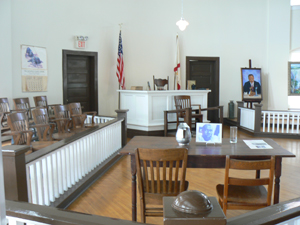 Inside the courthouse at Monroeville where the movie was filmed.