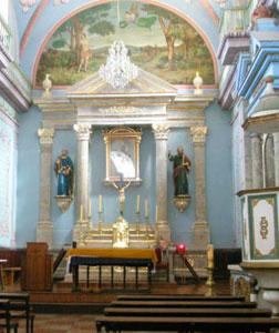 Inside the San Sebastián Church