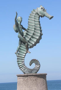 The Seahorse by Rafael Zamarripa, the most prized piece of artwork on the Malecon