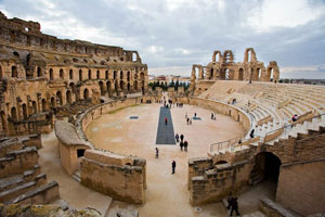 The Roman amphitheater in El Jem