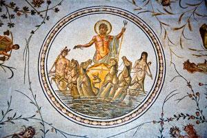 A Roman mosaic at the Bardo Museum