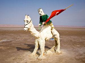 A salt sculpture in the desert